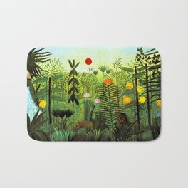 """Henri Rousseau """"Exotic Landscape with Lion and Lioness in Africa"""", 1903-1910 Bath Mat"""