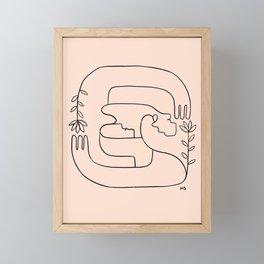 Hope is close, love is near Framed Mini Art Print