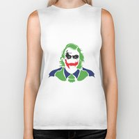 joker Biker Tanks featuring Joker by Sourire Art