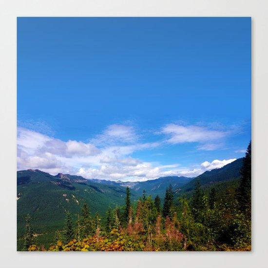 Northern Cascade Sky Canvas Print