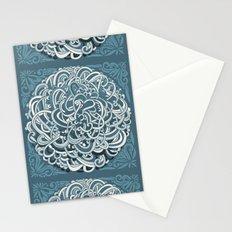 Detailed circlecorner, blue Stationery Cards
