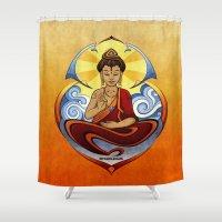 zen Shower Curtains featuring ZEN by starplexus
