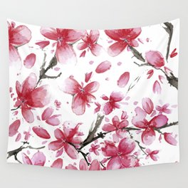 Cherry Blossoms Society6 Art Wall Tapestry