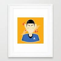 spock Framed Art Prints featuring spock by monsternist