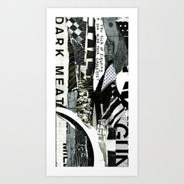 BLISSFUL BLACK 1 Art Print
