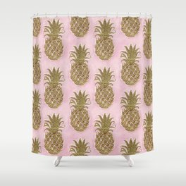 Glitter Pineapple Shower Curtain