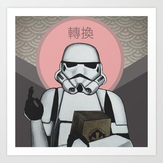Empire - Convert - Star Wars, Stormtrooper Art Print