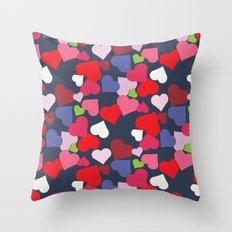 queen of hearts I Throw Pillow