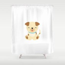 Boys Dog Gift design Shower Curtain
