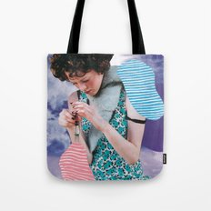 The skies are blue Tote Bag