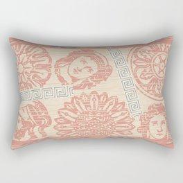 Roman Grecian Distressed Wood Rectangular Pillow