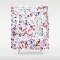 stitch Shower Curtains featuring Spring Stitch by Lewis Galli