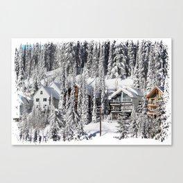 Winter Retreat - Mountain Resort Canvas Print