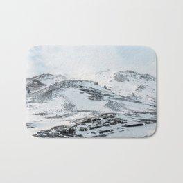 Snowy Hills Iceland Art Print Bath Mat