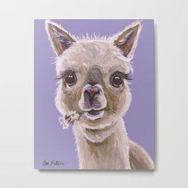Alpaca Art, Cute Alpaca art Metal Print