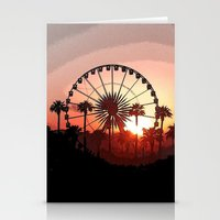 coachella Stationery Cards featuring Coachella Sunset 2 by Lauren Haney
