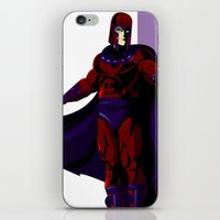 magneto iPhone & iPod Skins featuring Magneto by Andrew Formosa