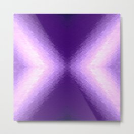 Purple Texture Ombre Metal Print