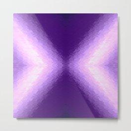 Purple Lavender Texture Ombre X Pattern Metal Print
