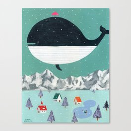 Whale in Aire Canvas Print