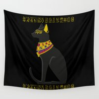 egyptian Wall Tapestries featuring EGYPTIAN CAT by Insait Disseny