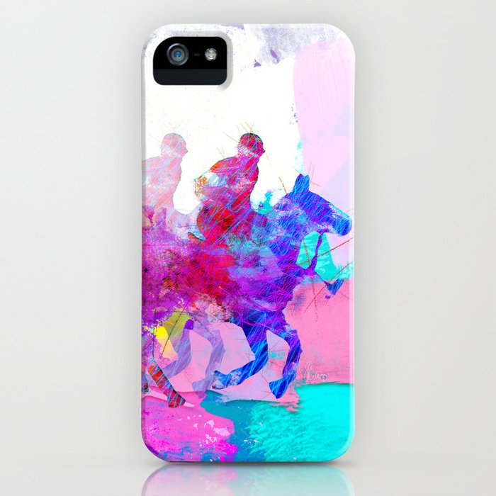 poloplayer abstract redblue iPhone Case