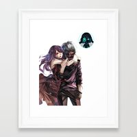 tokyo ghoul Framed Art Prints featuring kankei tokyo ghoul by Lee Chao Charlie Vang