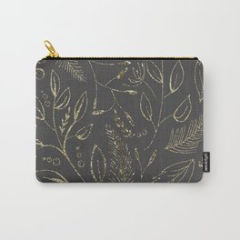 Holiday grey and gold Carry-All Pouch