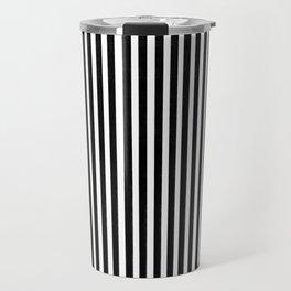 Home Decor Striped Black and White Travel Mug
