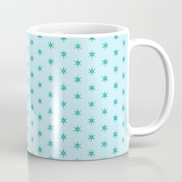 Green wheels on blue- nautical with a difference Coffee Mug