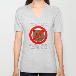 This Campus is Grizzly Bear Free Unisex V-Neck