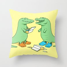 Crocs Throw Pillow