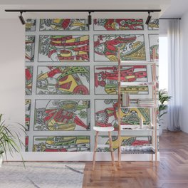 Old playing cards Wall Mural