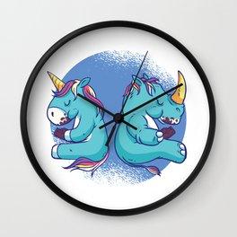 Rhinos are Chubby Unicorns that eat Chocolate Wall Clock