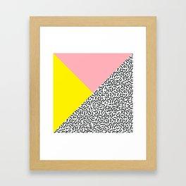 Memphis pattern 28 Framed Art Print