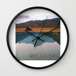 Trying To Find A Myth (Where It All Starts) Wall Clock