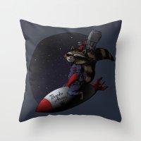 bombs away Throw Pillows featuring Bombs Away! by I.Nova
