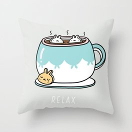 Marshmalunny Cocoa Throw Pillow