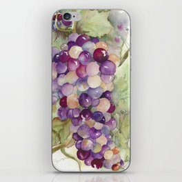 Wine Grapes 2 iPhone Skin
