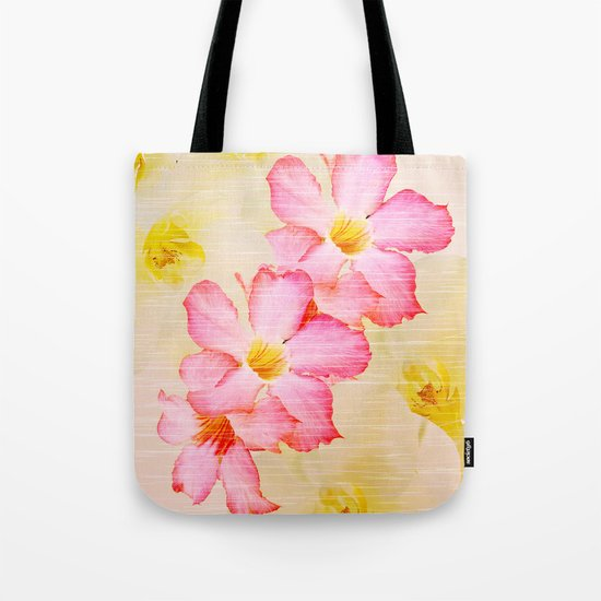 Desert Rose and Orchids  Tote Bag