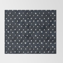 Midnight Starlet Throw Blanket