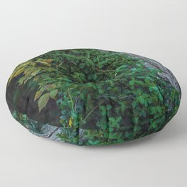 Ivy upon the Tree (Color) Floor Pillow