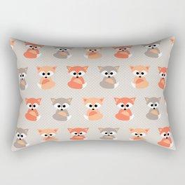 Baby foxes pattern Rectangular Pillow