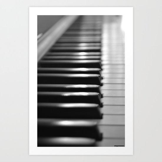 black and white Art Print