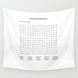 Psychoanalysis Word Search Wall Tapestry