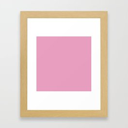 Prism Pink Solid Colour Framed Art Print