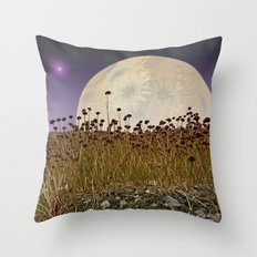 MOONRISE ON A DISTANT WORLD Throw Pillow