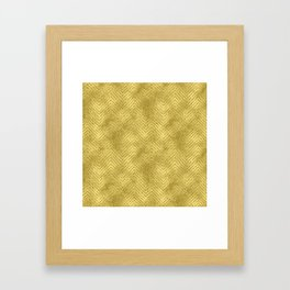 Gold ,Glitter and Chevrons Framed Art Print