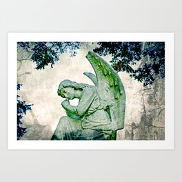 Angel's Thoughts Art Print