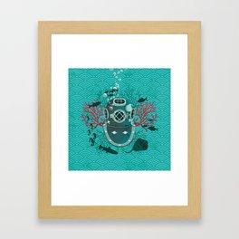 Deep Dive Framed Art Print